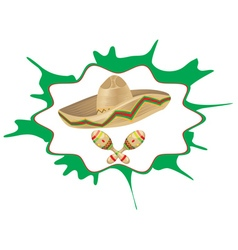 Sombrero and maracas5 vector
