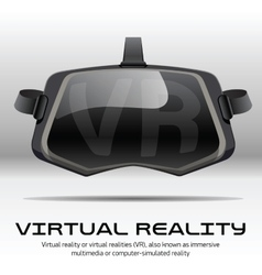 Original stereoscopic 3d vr headset front view vector