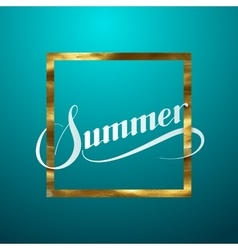 Summer retro label vector image