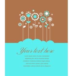 Greeting card invitation vector image