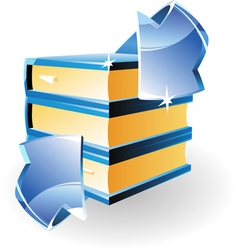 arrow and books vector image