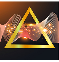 Abstract gold wave in triangle vector