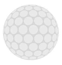 Ball for playing golf icon isolated vector