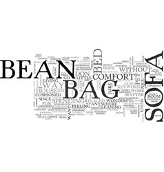 Bean bag sofa text word cloud concept vector