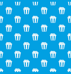box of popcorn pattern seamless blue vector image vector image