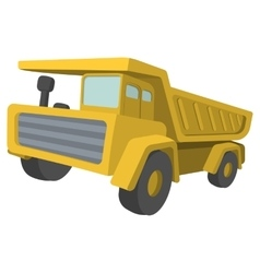 Building truck Tipper cartoon vector image vector image