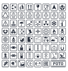 cargo symbols set packaging icons vector image vector image