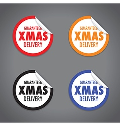 Christmas peel sticker set vector