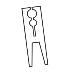 Clothes peg isolated icon vector