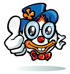 clown cartoon on white background vector image vector image