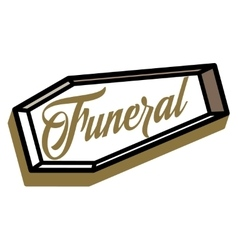 Color vintage funeral emblem vector
