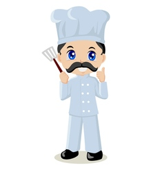 Cute cartoon of a chef vector