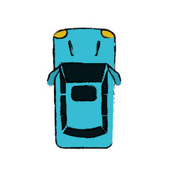 Drawing car parking top view vector