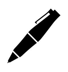 Fancy ballpoint pen icon vector