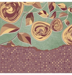 Floral vintage card vector