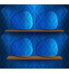 Four glass placeholders vector