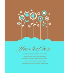 Greeting card invitation vector image