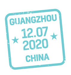 Guangzhou postage stamp vector