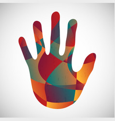 Hand palm abstract texture vector