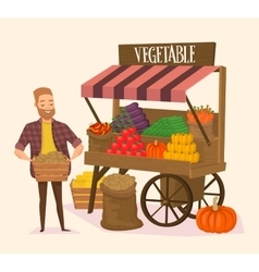 Local farmer shopkeeper vector image