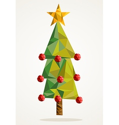 Merry Christmas tree triangle composition EPS10 vector image vector image