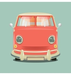 Minibus cartoon colorful vector image vector image