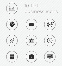 Modern flat icons collection of business theme vector