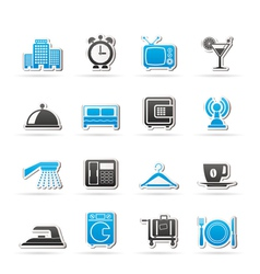 motel and travel icons vector image