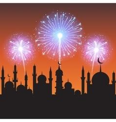 Muslim community festival vector image