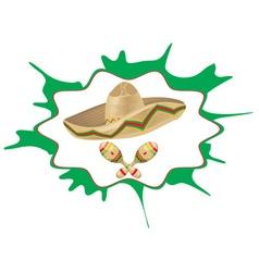 Sombrero and Maracas5 vector image
