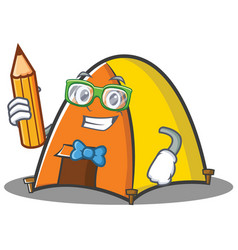 student tent character cartoon style vector image