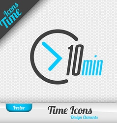 Time Icon 10 Minutes Symbol Design Elements vector image vector image