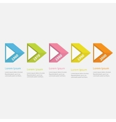 Timeline infographic five step with 3d triangle vector