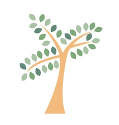 Tree logo icon Flat silhouette isolated vector image