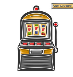 Vintage slot machine vector