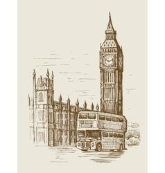 Hand-drawn london vector