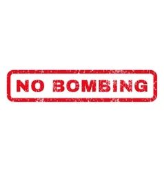 No bombing rubber stamp vector
