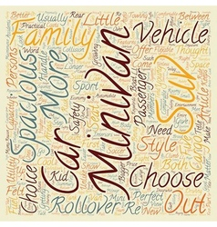 How to choose a spacious car text background vector