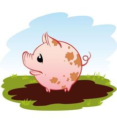 piggy vector image