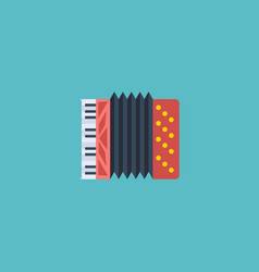 flat icon accordion element vector image