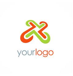 Letter x technology logo vector