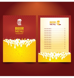Beer card menu splash vector