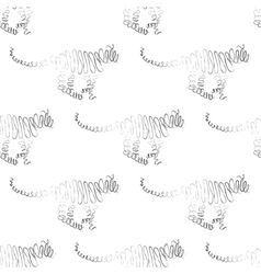Tiger seamless pattern vector