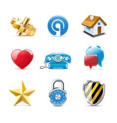 web icons   bella series vector image