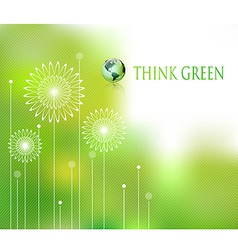 think green background vector image