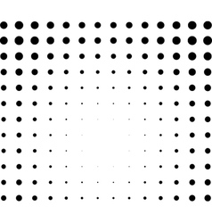 Graphical black and white light effect in halftone vector