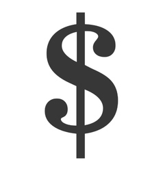 Money black symbol isolated over white vector