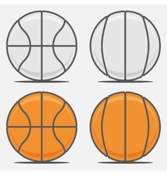 Basketball Balls for your Team Logo vector image vector image