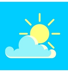 blue sky and the sun day icon vector image vector image