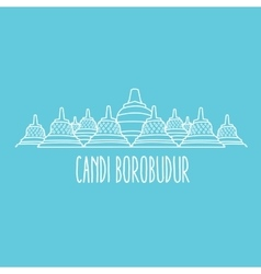 Candi borobudur temple in java island indonesia vector